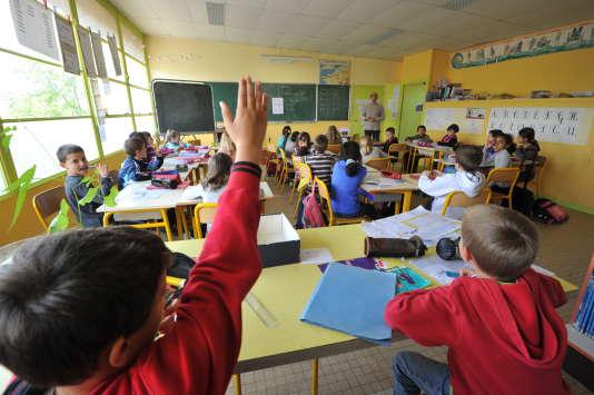 Dans une classe élementaire d'Angers, en 2012.