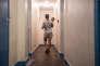 Dans un des hôtels d'Aubervilliers loué par le SAMU social, en décembre 2016.