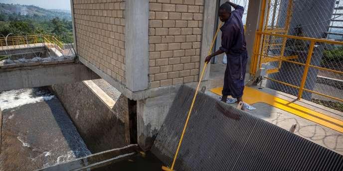 Au barrage hydroélectrique de Matebe, dans le Nord-Kivu, inauguré en décembre 2016 par le président Kabila.