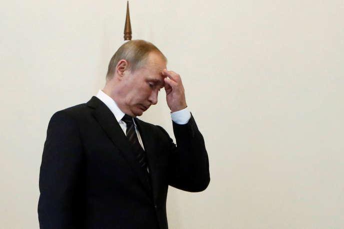 Le président russe Vladimir Poutine, ancien membre du KGB, à Saint Pétersbourg, le 9 août 2016.