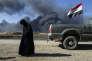 Familles déplacées, en Irak, durant la guerre contre l'Etat islamique.