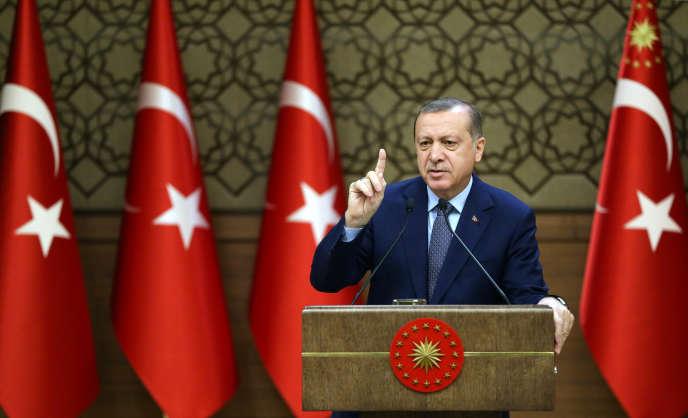 Le présidentErdogan, à Ankara, le 14 décembre.