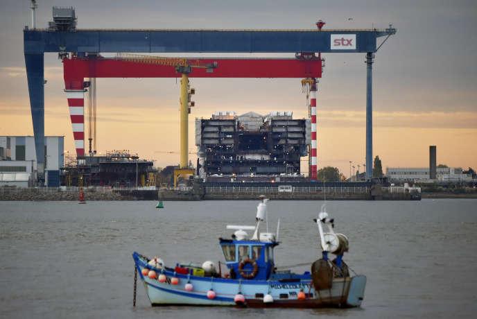 Les chantiers navals STX, à Saint-Brévin-les-Pins près de Saint-Nazaire, le 20 octobre 2016.