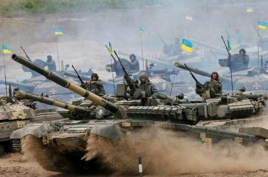 Exercice des forces militaires ukrainiennes, en septembre.