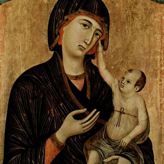 «Madonna di Crevole», de Duccio di Buoninsegna (vers 1255-1260), conservée au musée de Sienne (détail).
