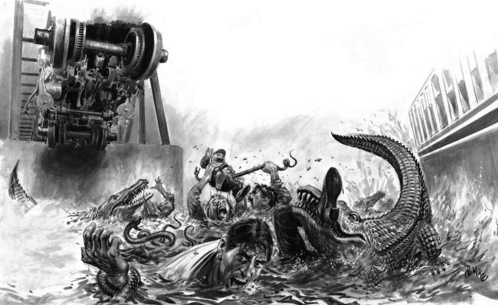 Le train déraille dans le bayou infesté (1993)