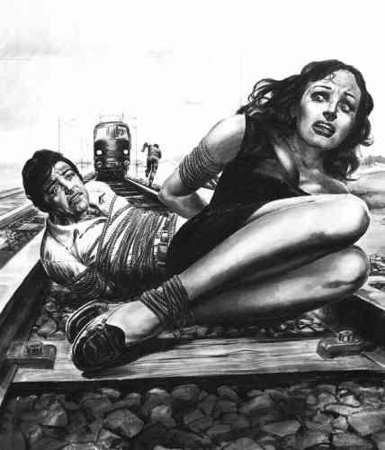 Il attache sa femme et son rival sur les rails (1978)