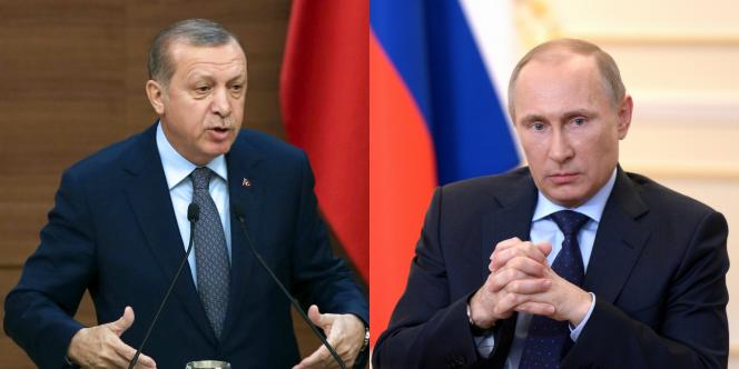 Leprésident turc Recep Tayyip Erdogan et le président russe Vladimir Poutine.