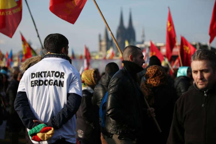 Manifestation contre le président turc à Cologne, le 12 novembre 2016.