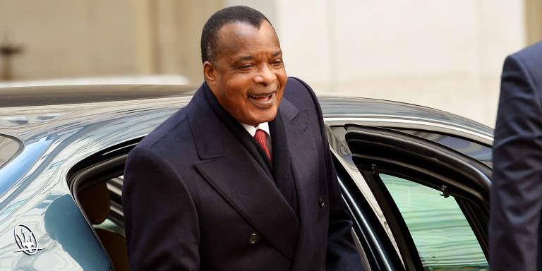 Le président du Congo-Brazzaville, Denis Sassou-Nguesso, lors d'une rencontre avec le président du conseil italien, Matteo Renzi, le 26 dévrier 2015 à Rome.