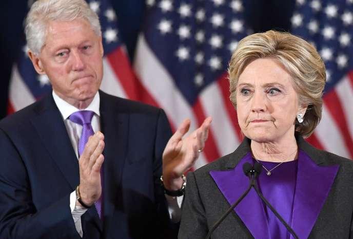 La candidate démocrate à la présidentielle américaine Hillary Clinton le jour de sa défaite contre le républicain Donald Trump, le 9 novembre 2016 à New York.