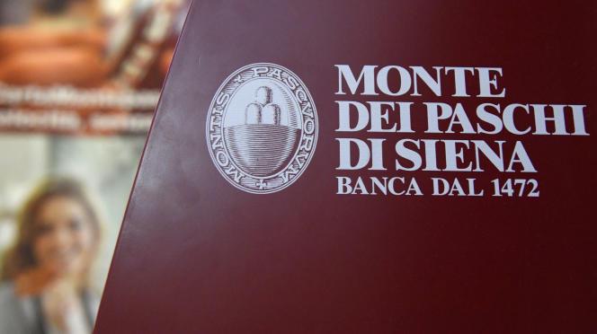 Le logo de la banque italienne Monte Dei Paschi di Siena (BMPS), le 9 décembre 2016 à Rome.