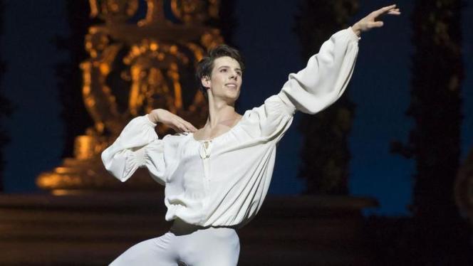 Germain Louvet dans « Roméo et Juliette» à l'Opéra Bastille en mars 2016.