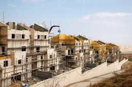 Des bâtiments en construction dans la colonie deMaale Edumim, en Cisjordanie occupée, le 28 décembre 2016.