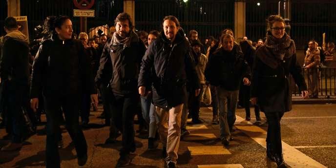 Pablo Iglesias, leader du parti anti-austérité espagnol Podemos, à Madrid en décembre 2016.