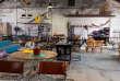Au village vintage proposé par le magasin Habitat dans les puces de St Ouen,le 6 juillet 2013.