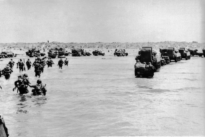 Débarquement des troupes américaines sur Utah Beach, le 6 juin 1944.