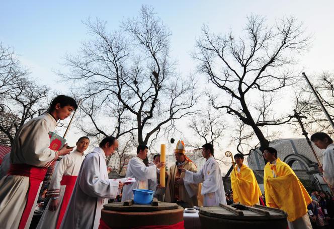 Une cérémonie de Pâques à Pékin, en avril 2012.