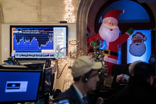 Le New York Stock Exchange, à New York, le 20 décembre.