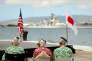 Des survivants de Pearl Harbor attendent l'arrivée de Barack Obama et du Premier ministre japonaisShinzo Abe (27 décembre 2016). Pour le Japon, ce pèlerinage symbolique a aussi pour but de s'assurer un soutien américain face à la puissance chinoise.(REUTERS/Kevin Lamarque)
