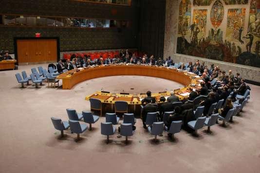 Les membres du Conseil de sécurité des Nations unies le 31 décembre à New York.
