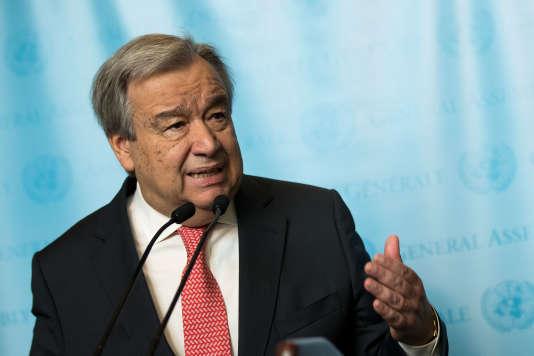 Antonio Guterres au siège de l'ONU à New York le 12 décembre.