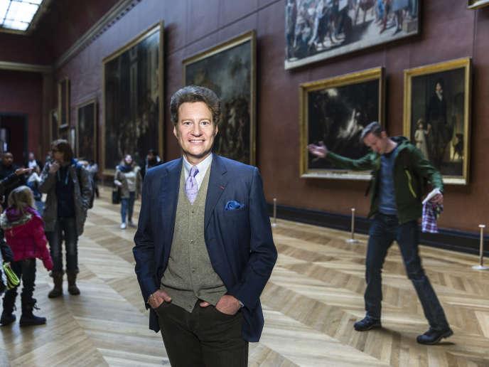 L'homme d'affaires et philantrope américain Thomas Kaplan photographié au musée du Louvre à Paris, le 30 décembre.
