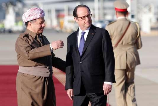 Massoud Barzani et François Hollande, le 2 janvier.