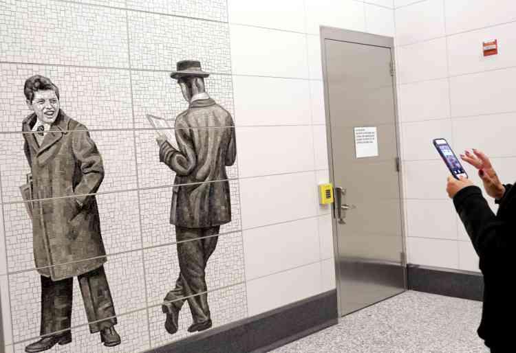 Une mosaïque de la station de la 63e rue, par Jean Shin.