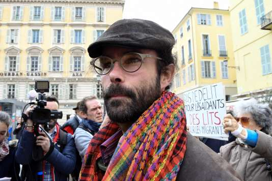 Cédric Herrou, au tribunal de Nice, le 23novembre2016.
