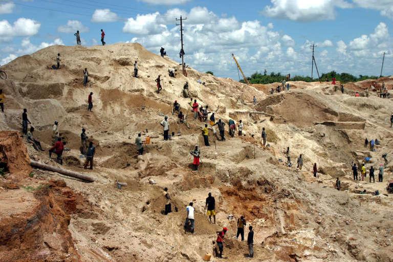 Une mine artisanale dans les environs de Lubumbashi, en République démocratrique du Congo (RDC).