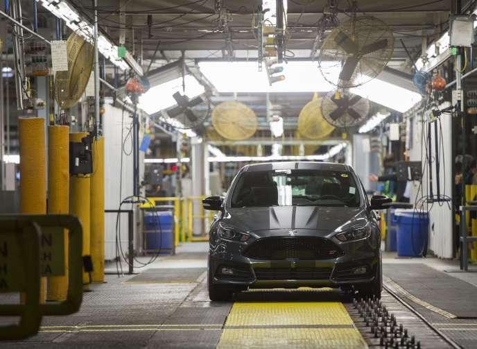 Une chaîne de montage de Ford Focus à Wayne dans le Michigan, en janvier 2015.