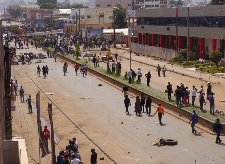 Lors d'une manifestation à Bamenda, au Cameroun, le 8 décembre 2016.