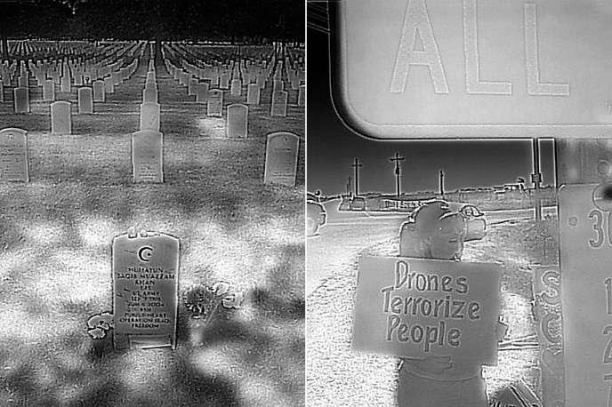 Sur la tombe du soldat Humayun Khan mort en Irak, au cimetière d'Arlington (Virginie), le 18 septembre 2016.