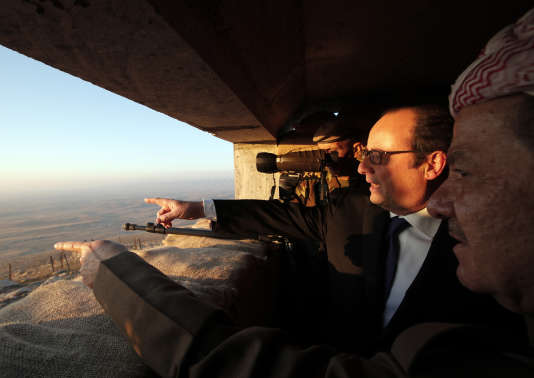 François Hollande, à Erbil (Irak), le 2 janvier.