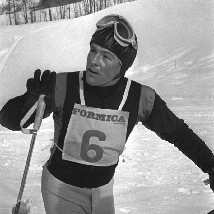 Jean Vuarnet, le 7 février 1962.