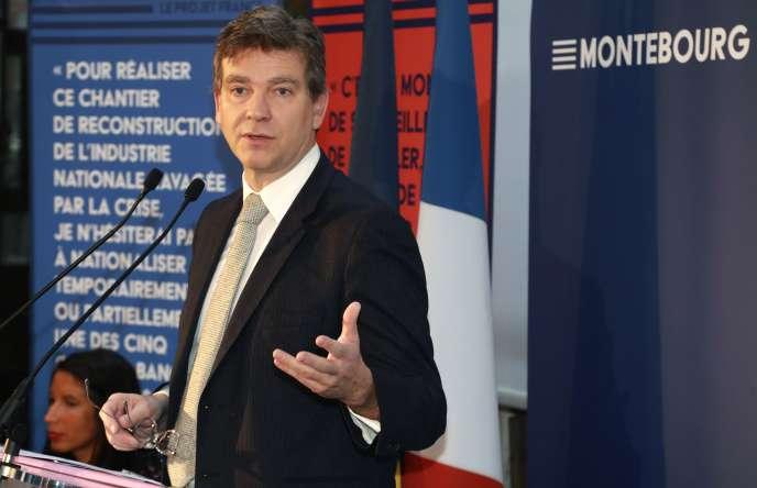 Arnaud Montebourg présente son programme économique, le 4janvier.