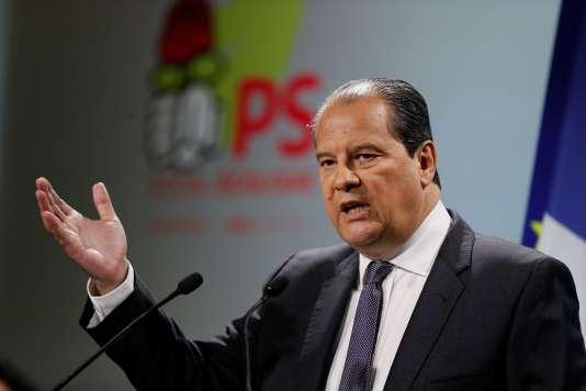 Jean-Christophe Cambadélis, au siège du Parti socialiste, le 4 janvier.