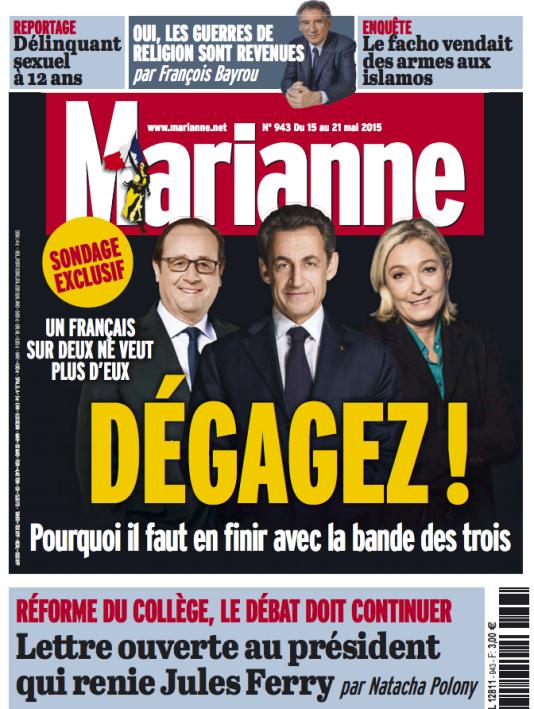 Une de l'hebdomadaire, le 15 mai 2015.