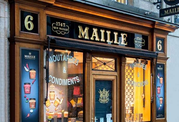 La boutique Maille ouverte en 1996, place de la Madeleine, à Paris.