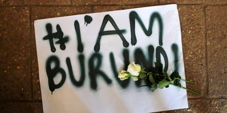 Lors d'une manifestation d'exilés burundais au Kenya, à Nairobi, en décembre 2015.