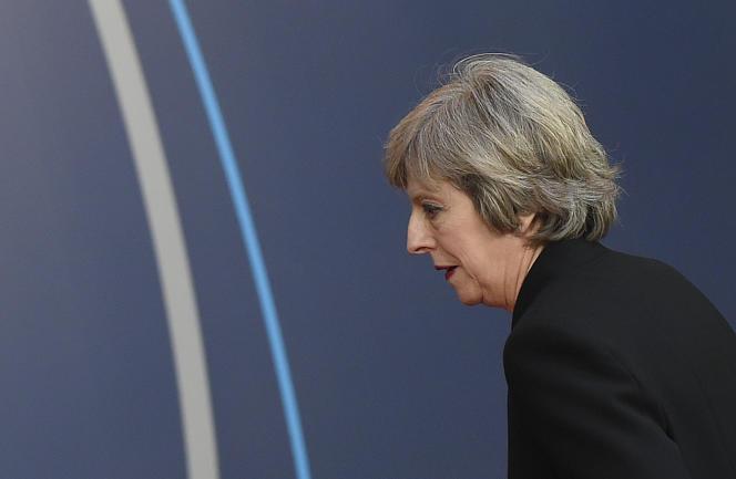 Theresa May, à Bruxelles le 15 décembre 2016.