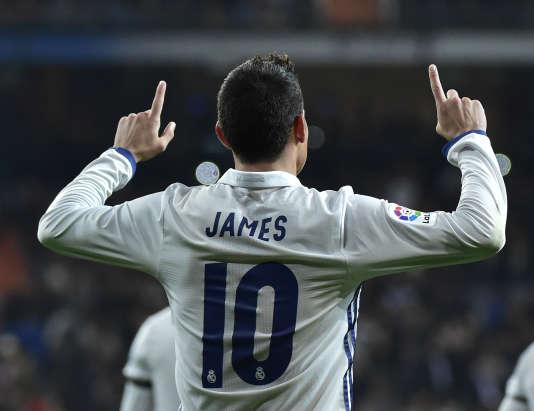 Le joueur colombien a inscrit un doublé lors du match contre Séville, en huitième de finale aller de la Coupe du roi.