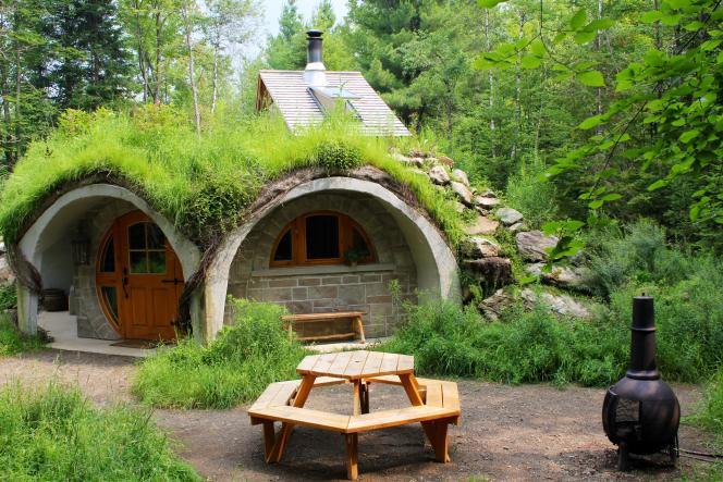 Toit végétalisé, intérieur en bois et forêt immense alentour… Tout y est.