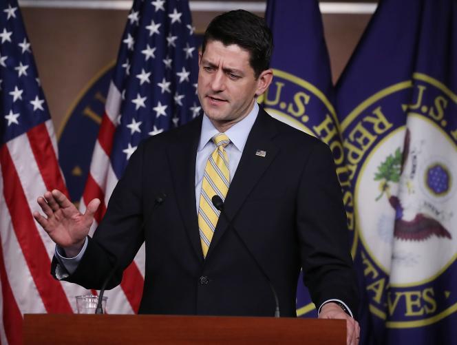 Le président de la Chambre des représentants, Paul Ryan, le 5 janvier à Washington.