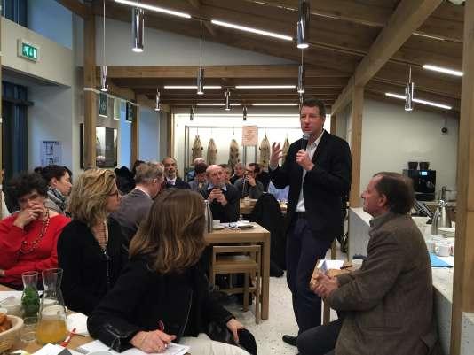 Le candidat écologiste, Yannick Jadot, au petit-déjeuner de La Fabrique écologique, à Paris, le jeudi 5 janvier.