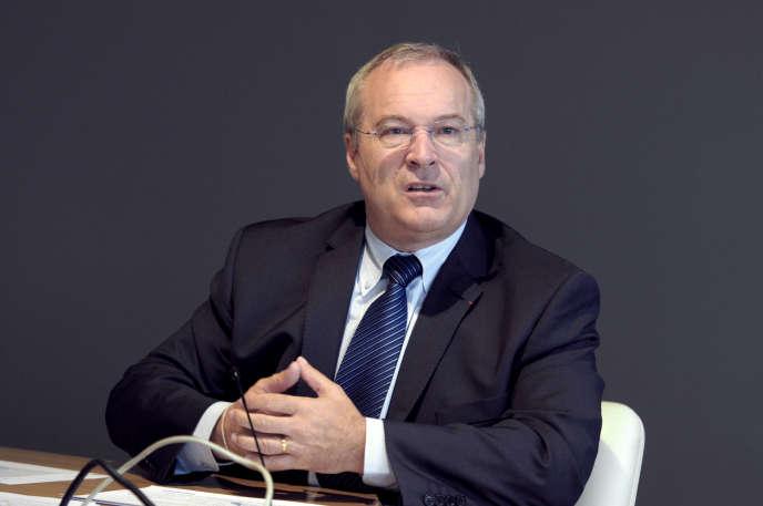 Jean-Georges Malcor, le directeur général de CGG, en 2012, à Paris.