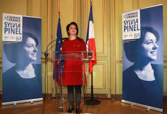 Sylvia Pinel le 5 janvier 2017 à Paris.