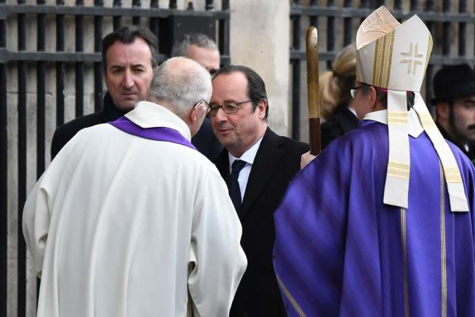François Hollande, lors des obsèques de François Chérèque, le 5 janvier.