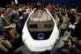 La Concept-i de Toyota, conçue pour apprendre de son conducteur, est présentée à la presse dans le cadre du CES de Las Vegas, le 4 janvier.